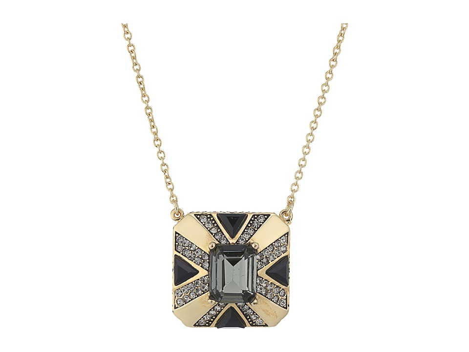 House of Harlow 1960 - Art Deco Pendant Necklace (Grey) Necklace