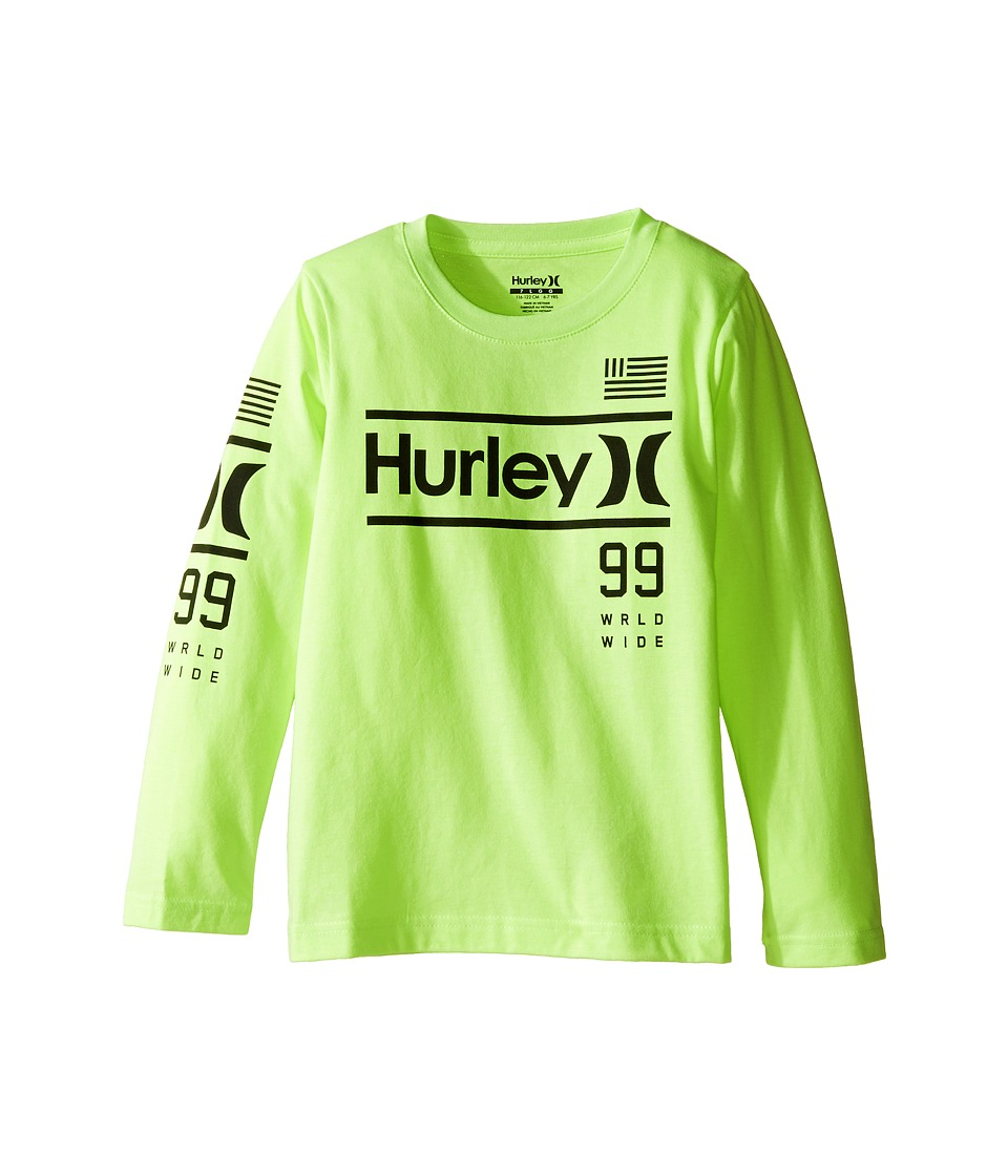 Hurley Kids Pride Only Long Sleeve Tee (Little Kids) (Ghost Green Heather) Boy
