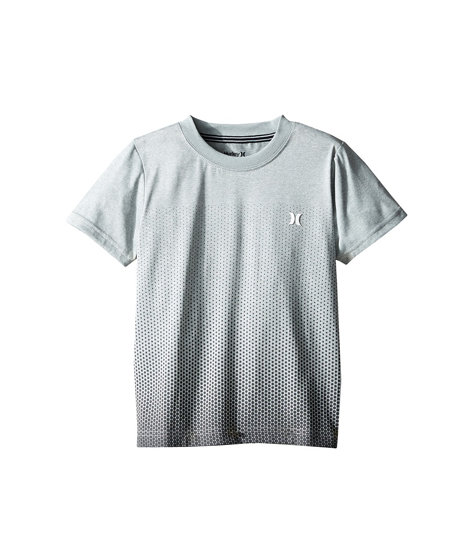 Hurley Kids Drifit Ombre Dot Tee (Little Kids) (Dark Grey Heather) Boy