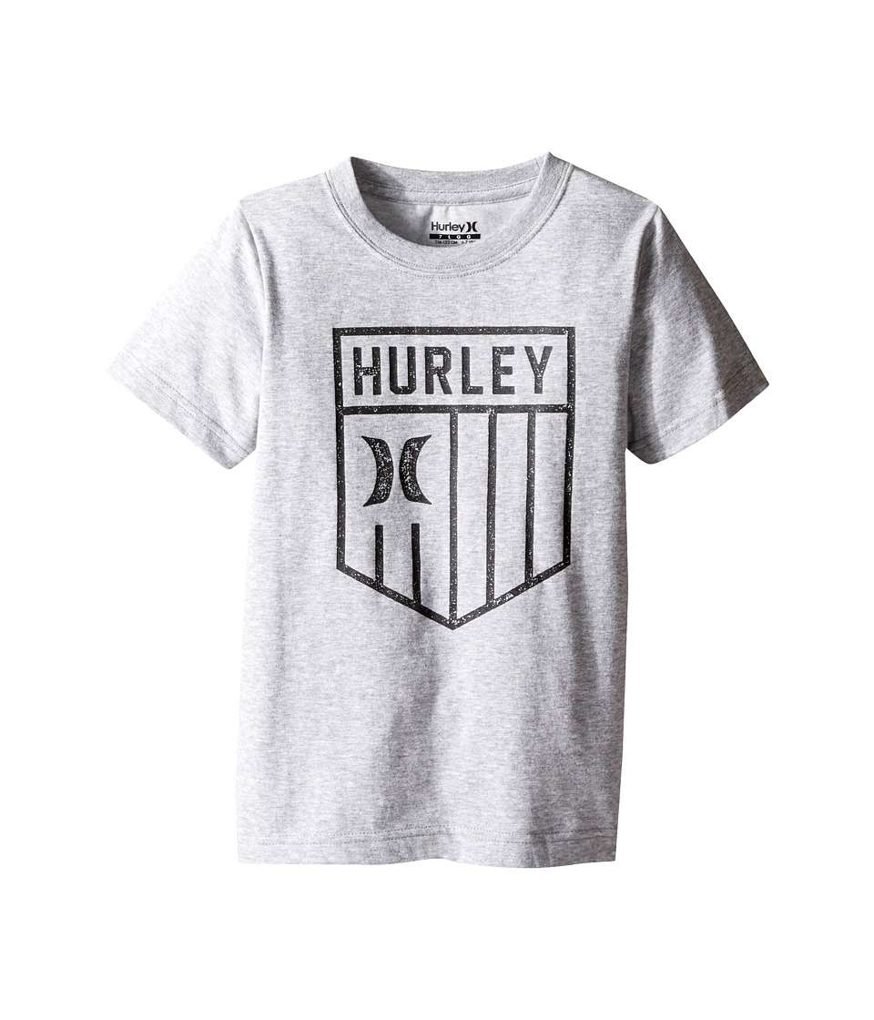 Hurley Kids Americano Tee (Little Kids) (Dark Grey Heather) Boy