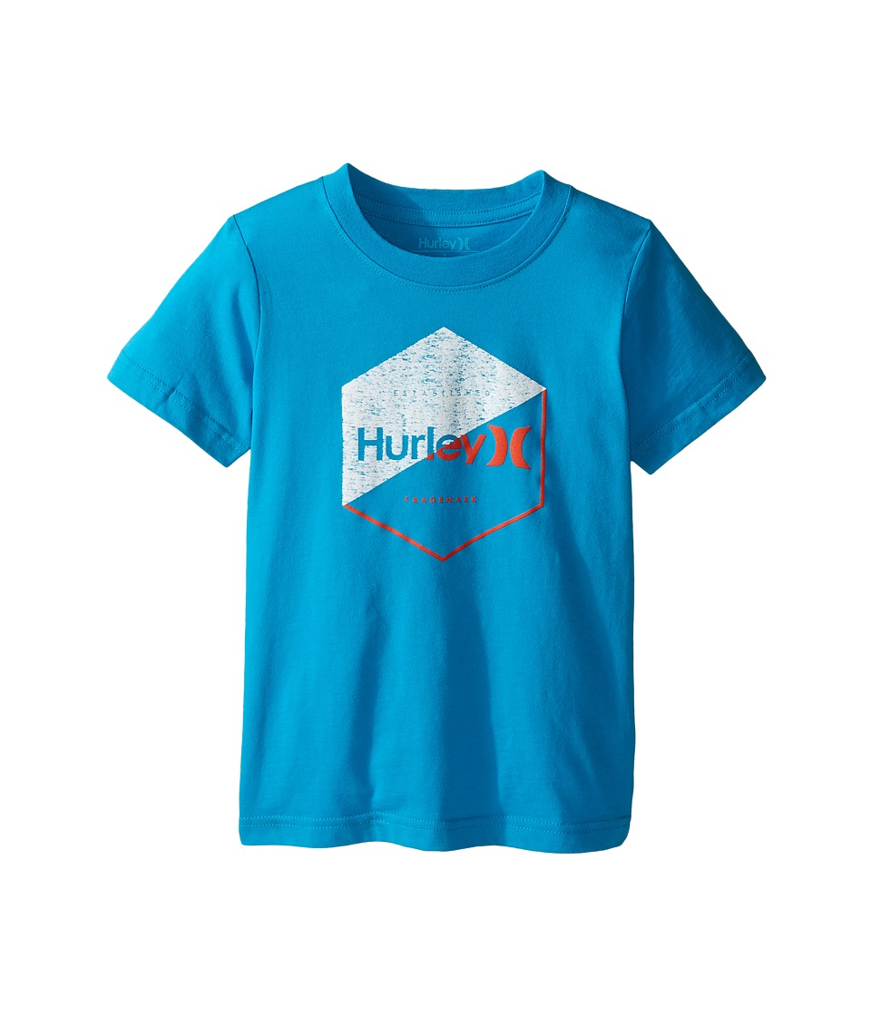 Hurley Kids Graced Tee (Little Kids) (Blue Lagoon) Boy