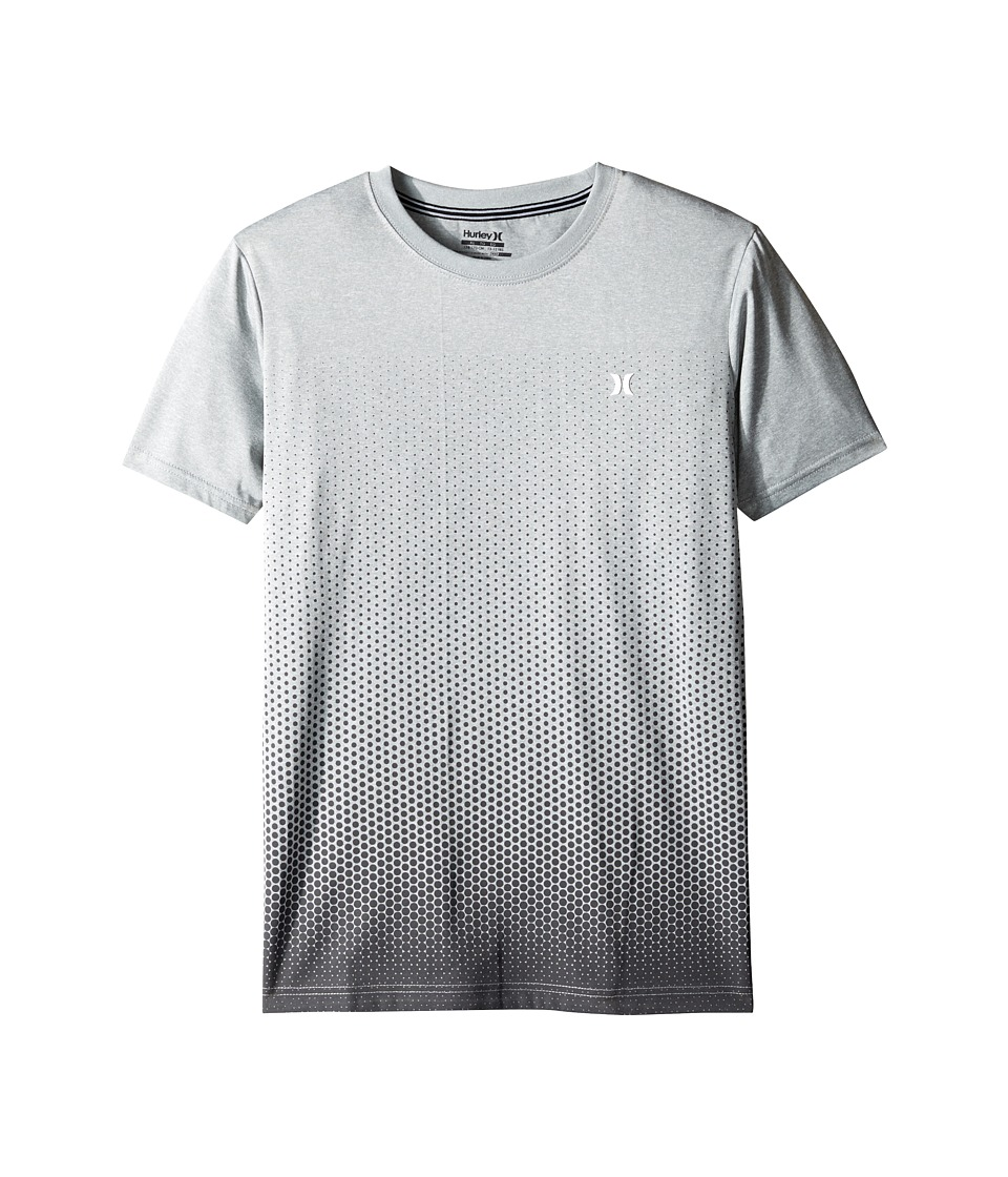 Hurley Kids Drifit Ombre Dot Tee (Big Kids) (Dark Grey Heather) Boy