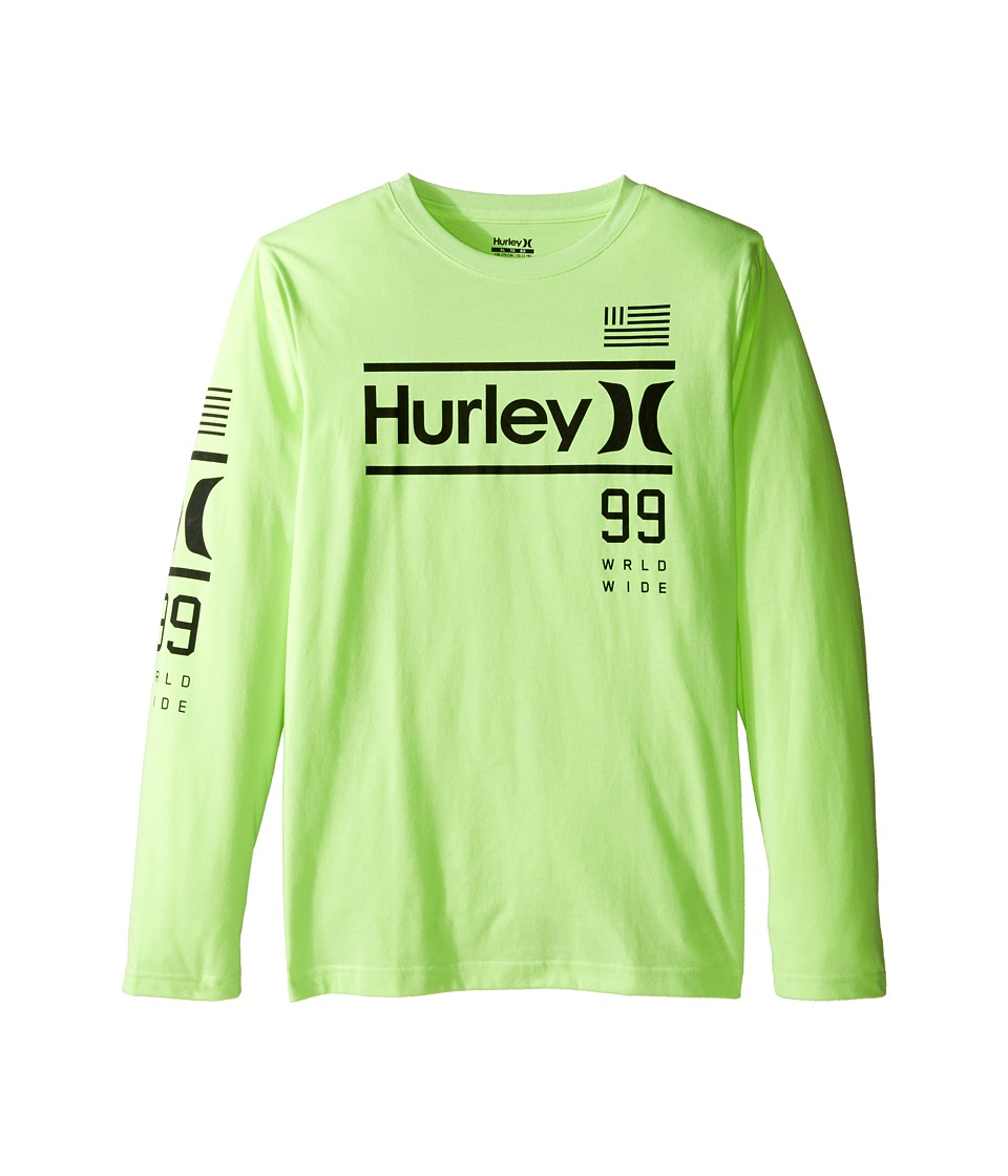 Hurley Kids Pride Only Long Sleeve Tee (Big Kids) (Ghost Green Heather) Boy