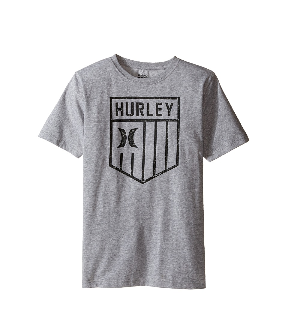 Hurley Kids Americano Tee (Big Kids) (Dark Grey Heather) Boy