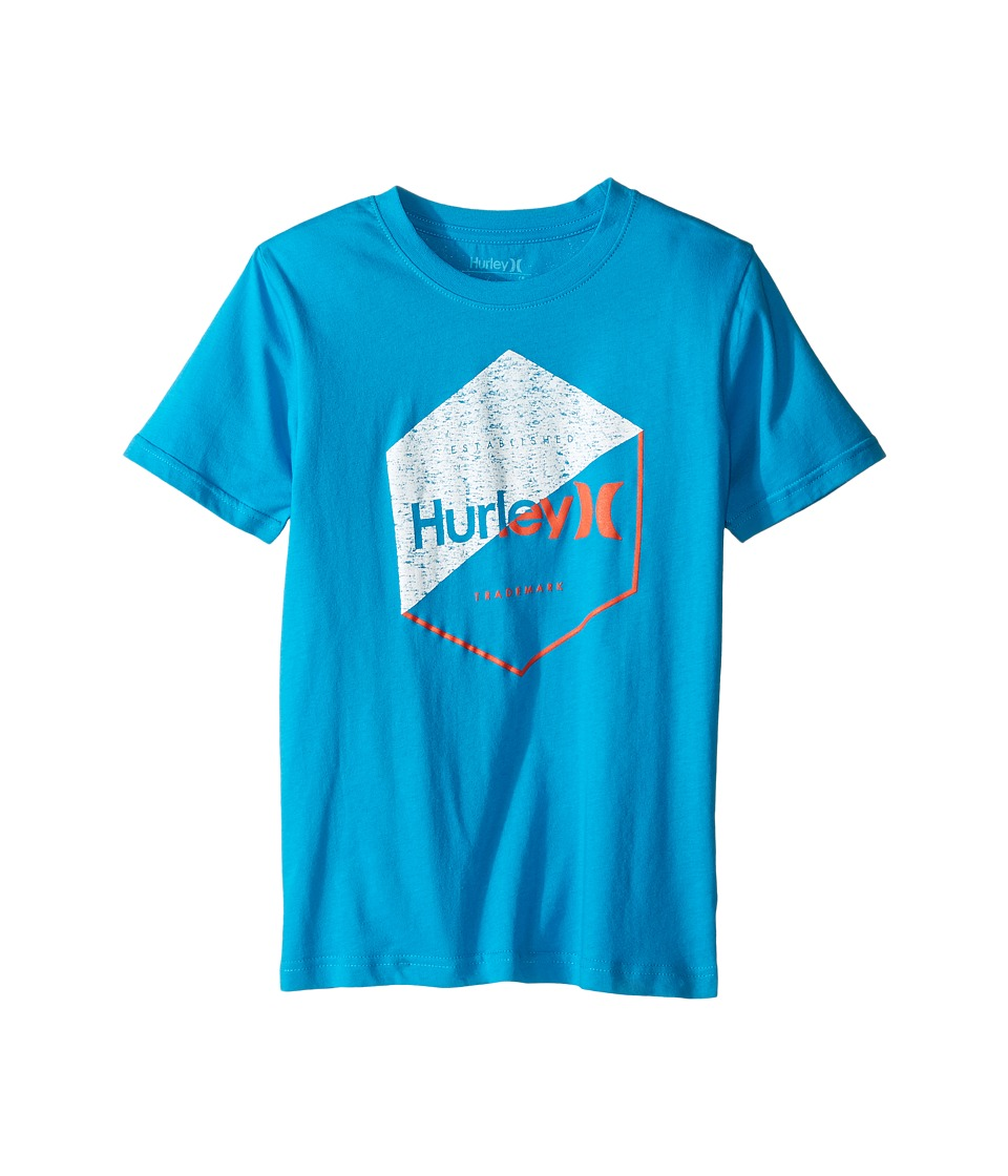 Hurley Kids Graced Tee (Big Kids) (Blue Lagoon) Boy