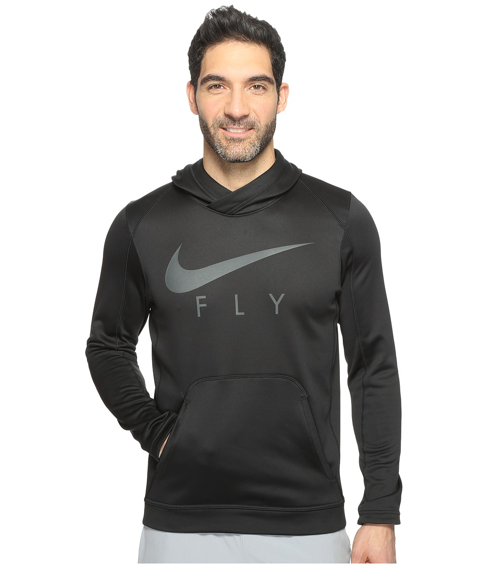 Nike Therma Basketball Hoodie (Black/Anthracite/Anthracite) Men
