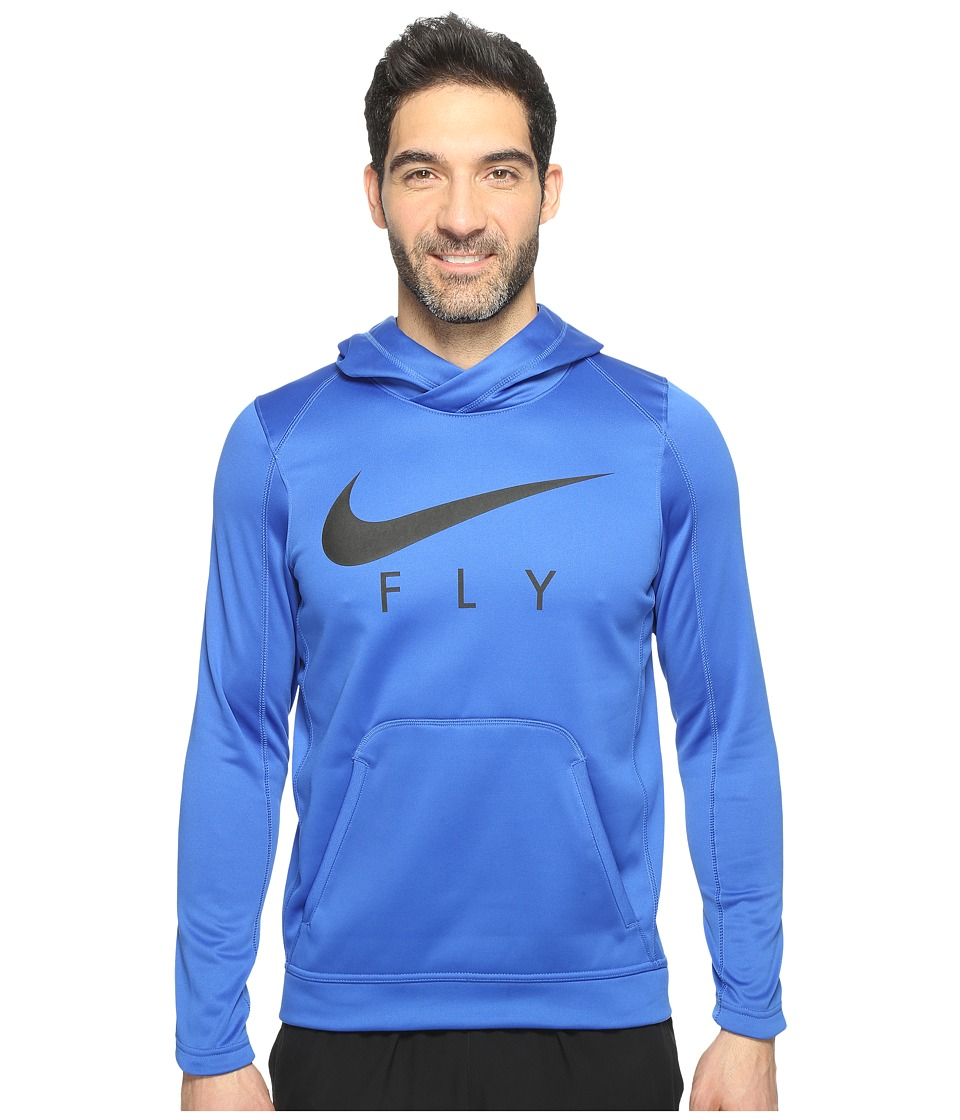 Nike Therma Basketball Hoodie (Game Royal/Black/Black) Men