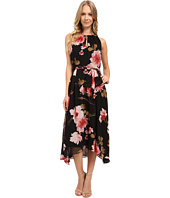 Tahari by ASL - Floral High-Low Hem Tie-Waist Dress