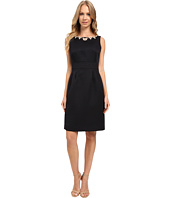 Tahari by ASL - Necklace of Pearls Textured Sheath Dress