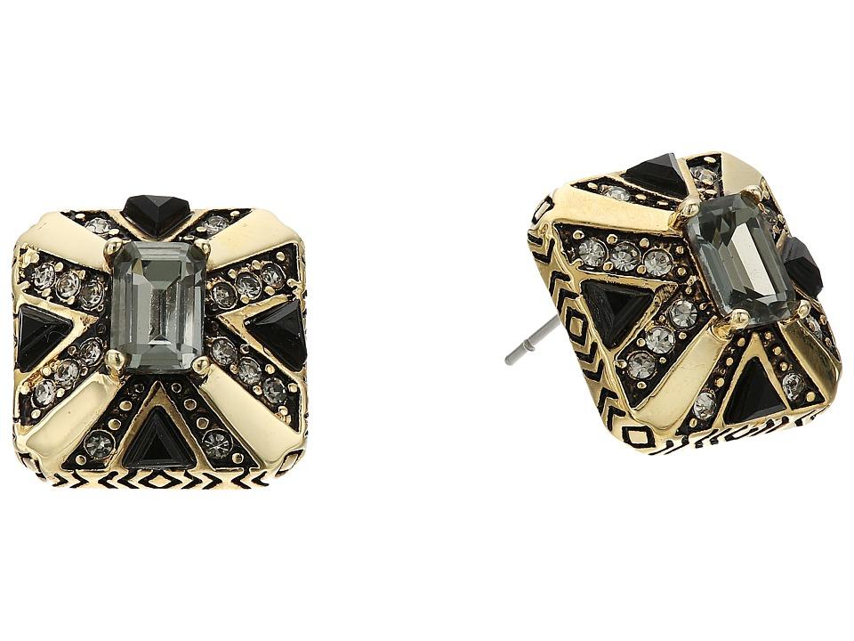 House of Harlow 1960 - Art Deco Stud Earrings (Grey) Earring