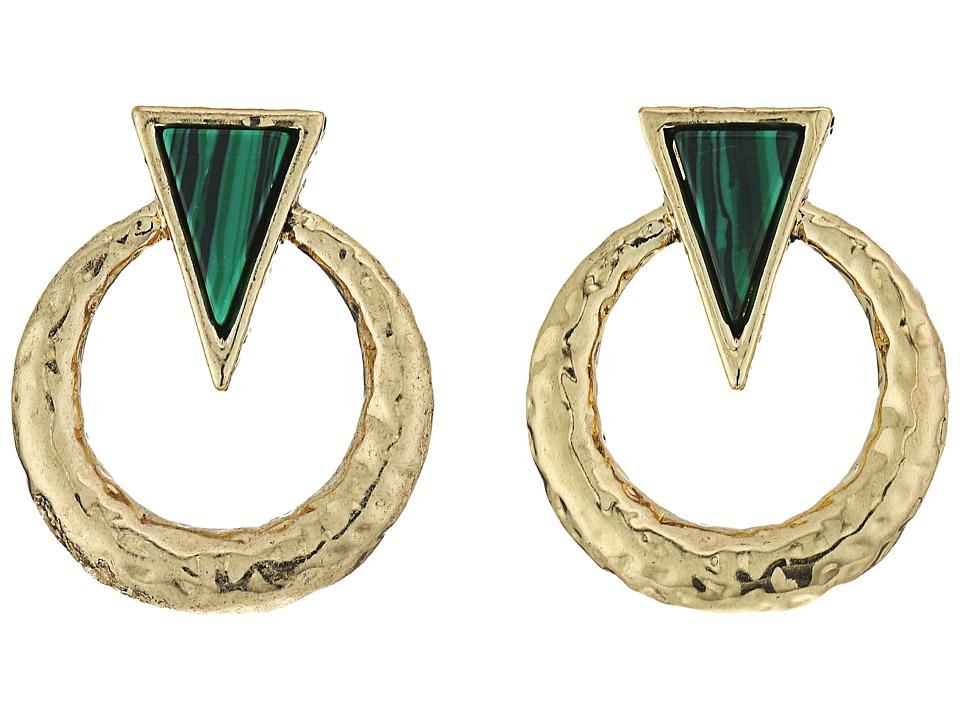 House of Harlow 1960 - Hymn Selene Earrings (Malachite) Earring