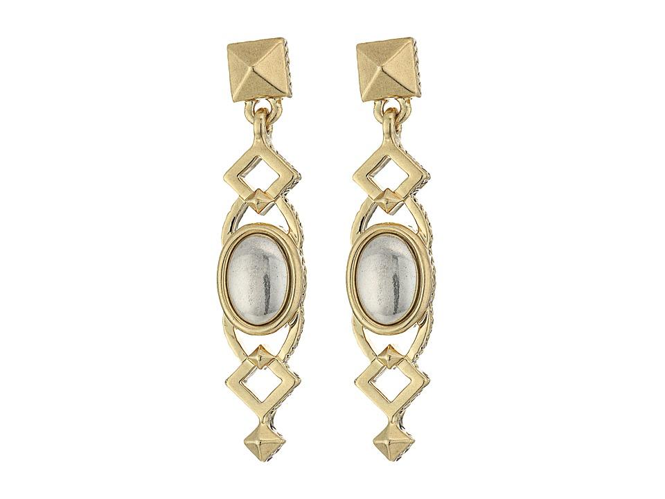 House of Harlow 1960 - Lady Grace Drop Earrings (Silver) Earring