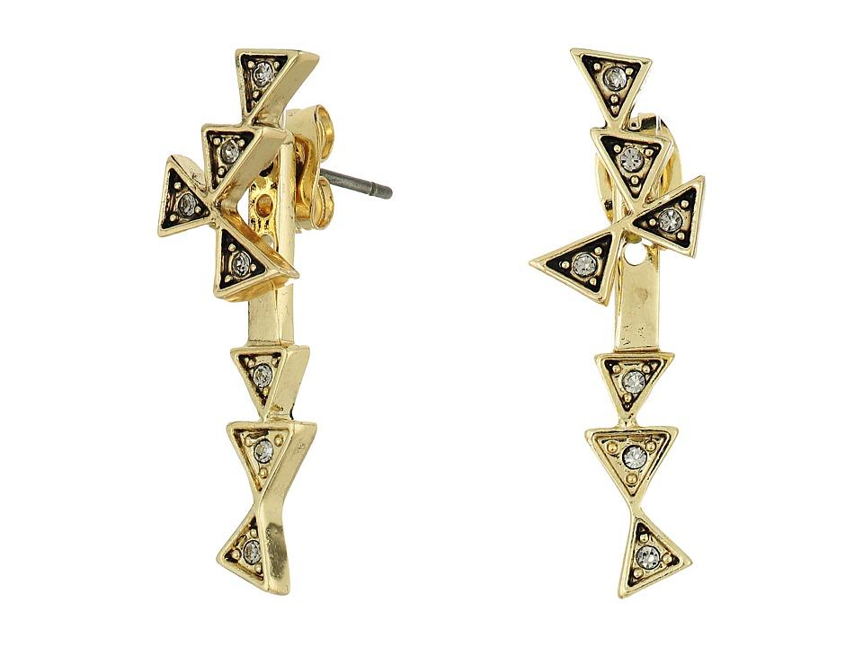 House of Harlow 1960 - Astrea Ear Jacket Earrings (Gold) Earring