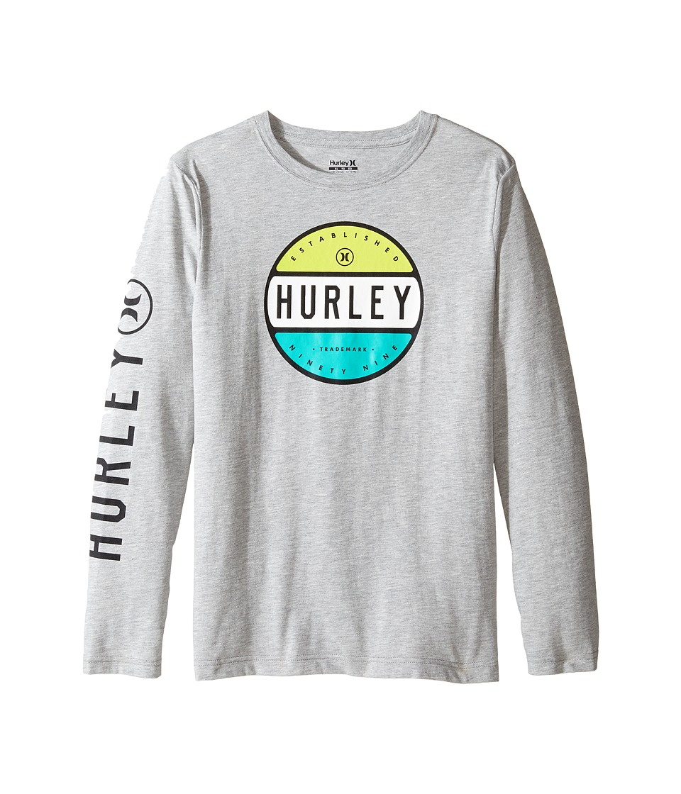 Hurley Kids Petro Long Sleeve Tee (Big Kids) (Dark Grey Heather) Boy
