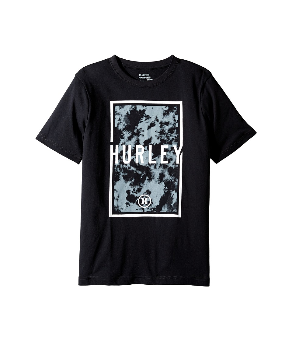 Hurley Kids Cloudy Tee (Big Kids) (Black) Boy