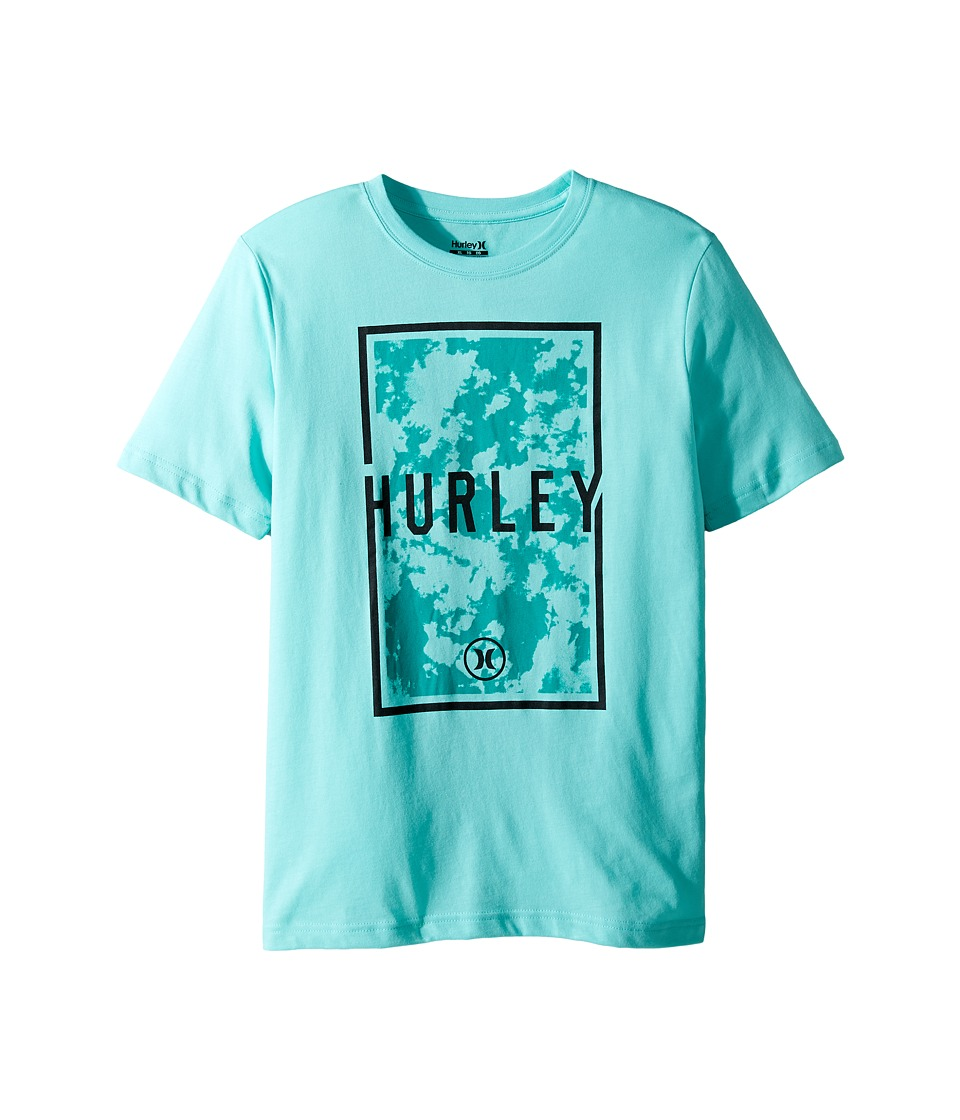 Hurley Kids Cloudy Tee (Big Kids) (Bleached Turquoise) Boy