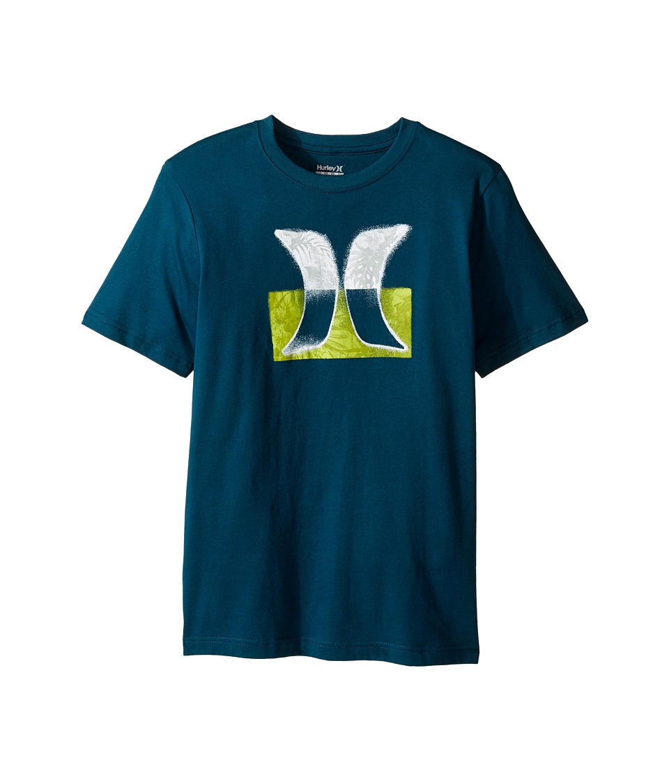 Hurley Kids Overspray Tee (Big Kids) (Midnight Turquoise) Boy