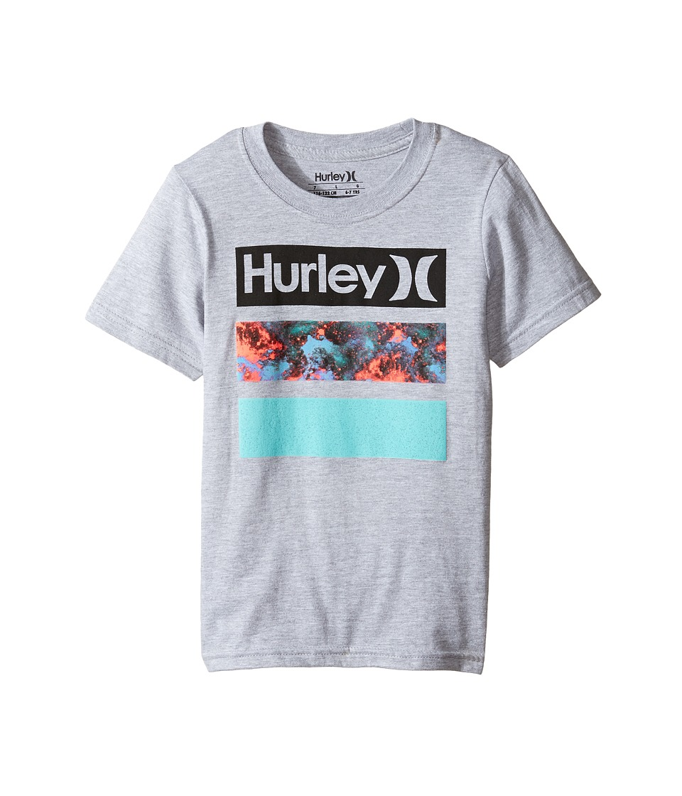 Hurley Kids Take Flight Tee (Little Kids) (Dark Grey Heather) Boy