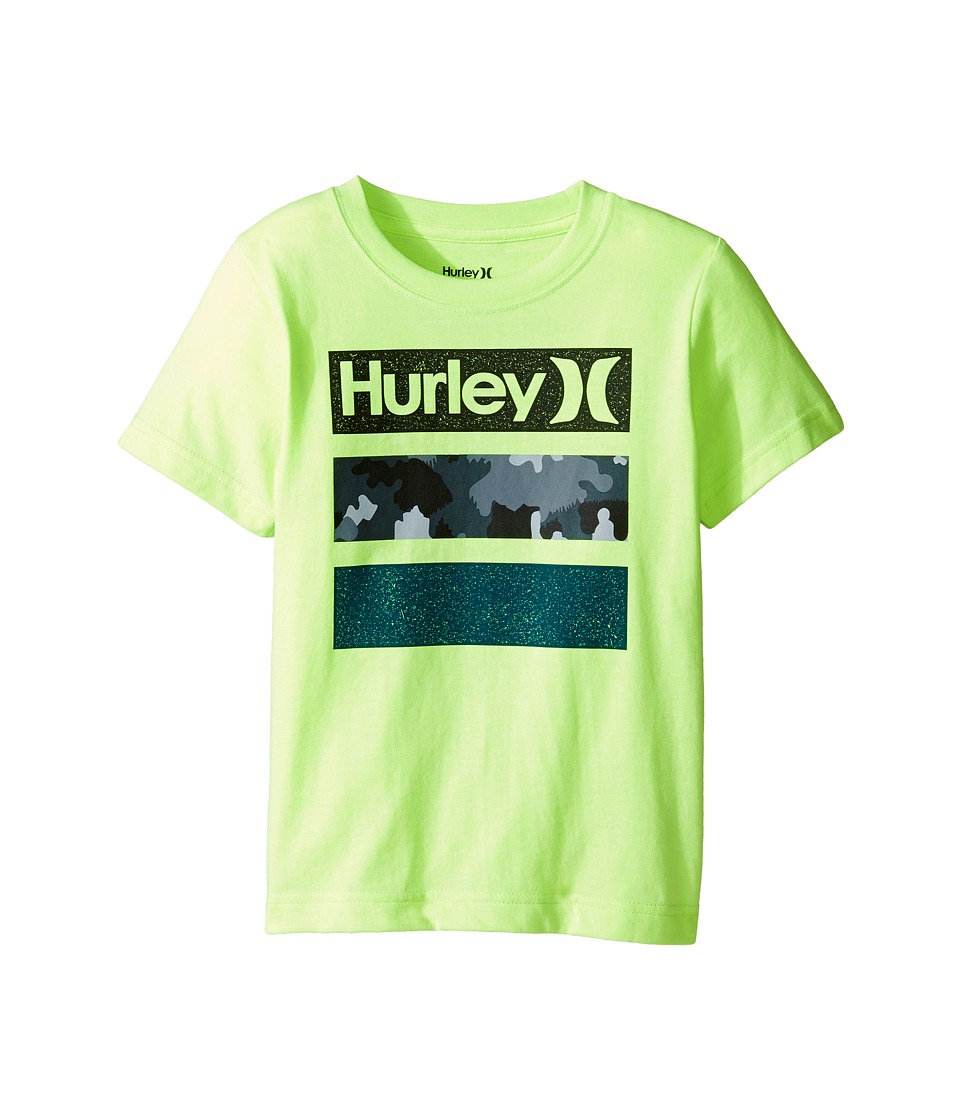 Hurley Kids Take Flight Tee (Little Kids) (Ghost Green Heather) Boy