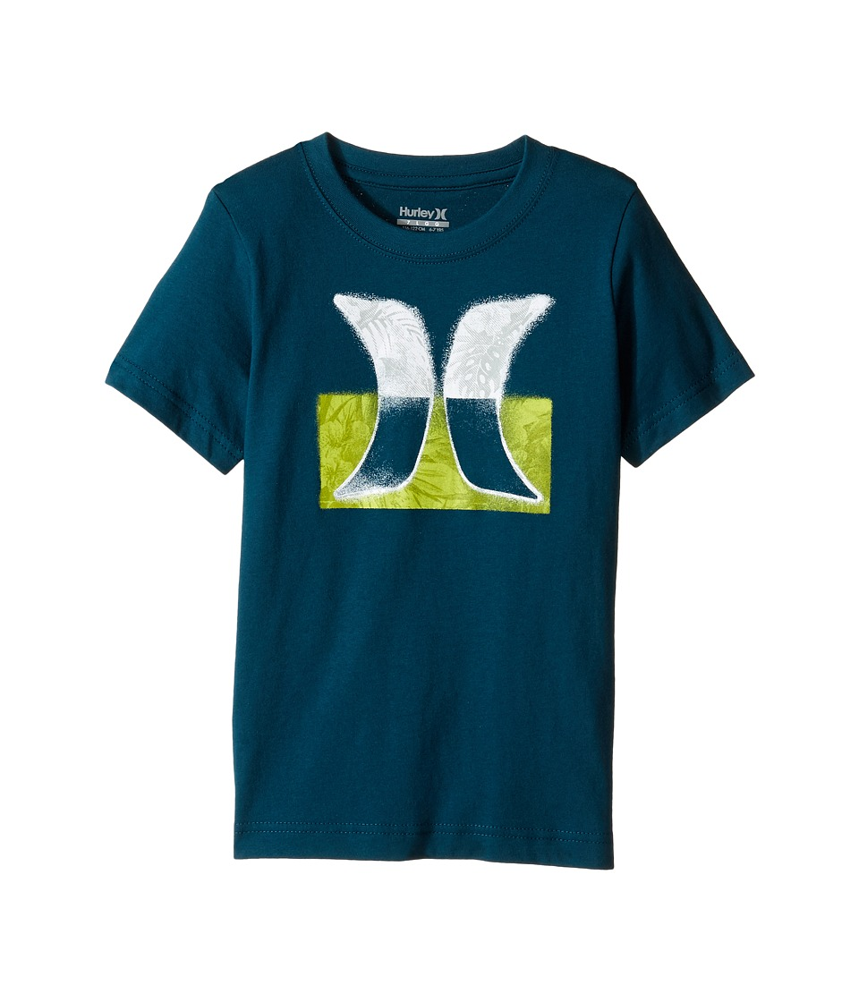 Hurley Kids Overspray Tee (Little Kids) (Midnight Turquoise) Boy