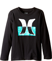 Hurley Kids - Overspray Long Sleeve Tee (Little Kids)