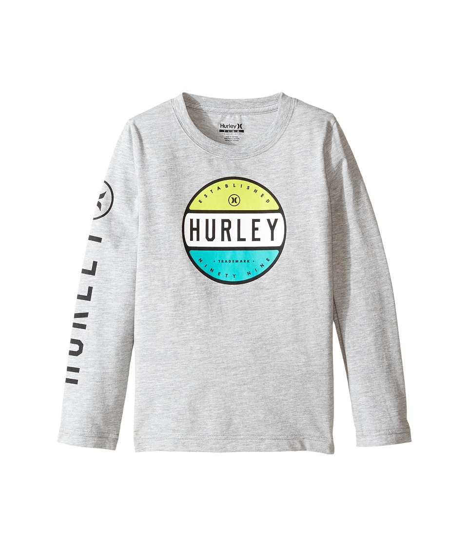 Hurley Kids Petro Long Sleeve Tee (Little Kids) (Dark Grey Heather) Boy