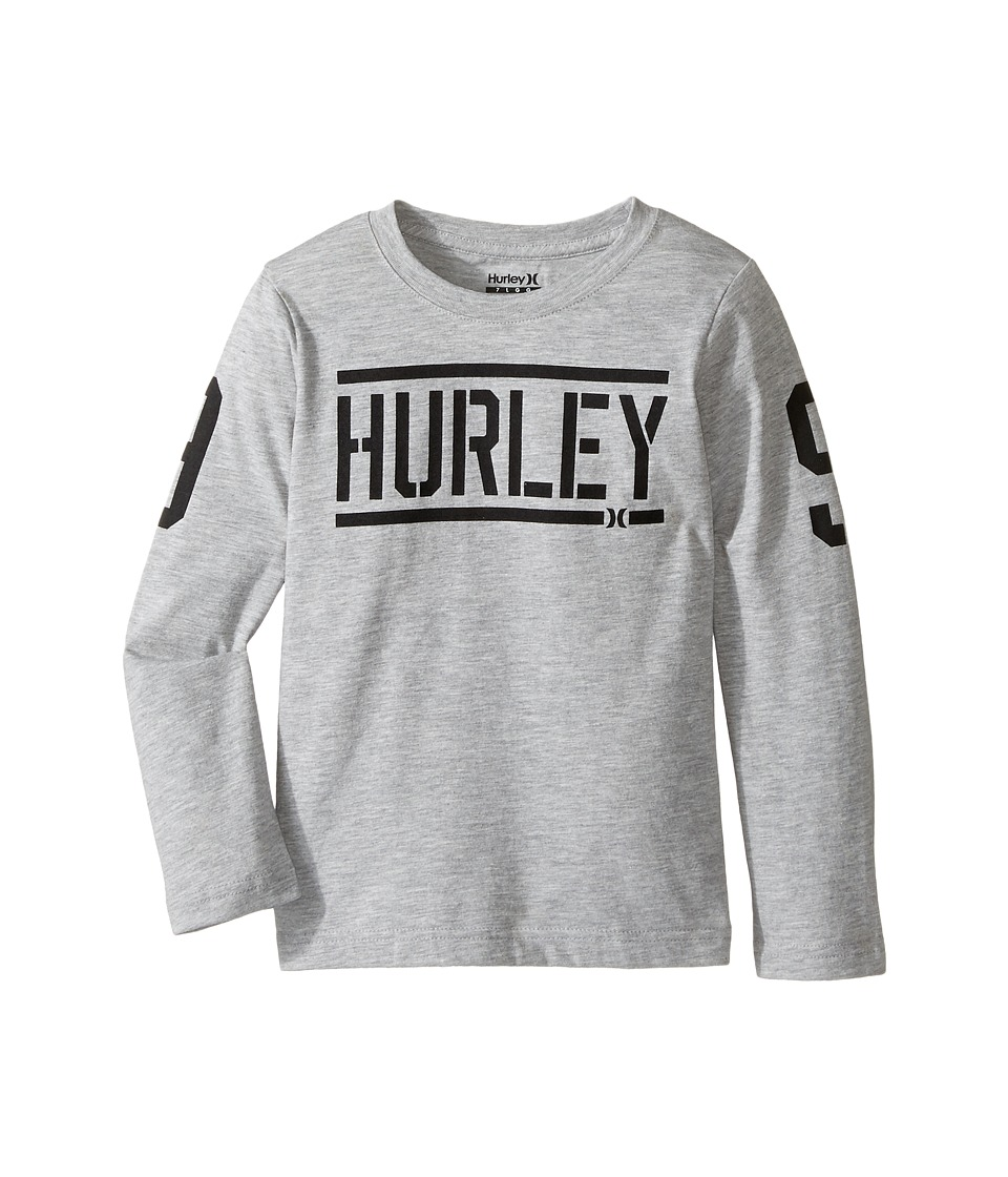 Hurley Kids Bleachers Long Sleeve Tee (Little Kids) (Dark Grey Heather) Boy