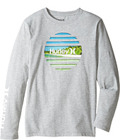 Hurley Kids - Tear Horizon Long Sleeve Tee (Big Kids)