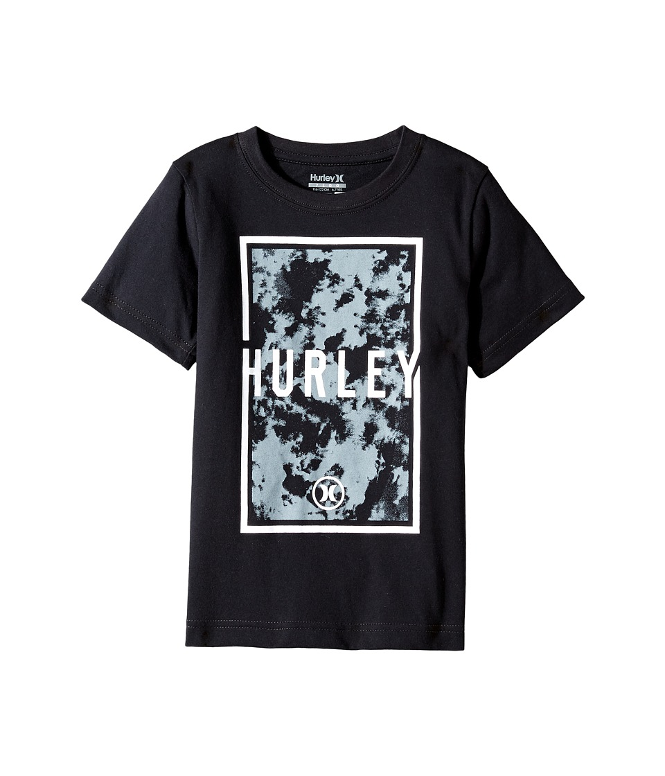 Hurley Kids Cloudy Tee (Little Kids) (Black) Boy