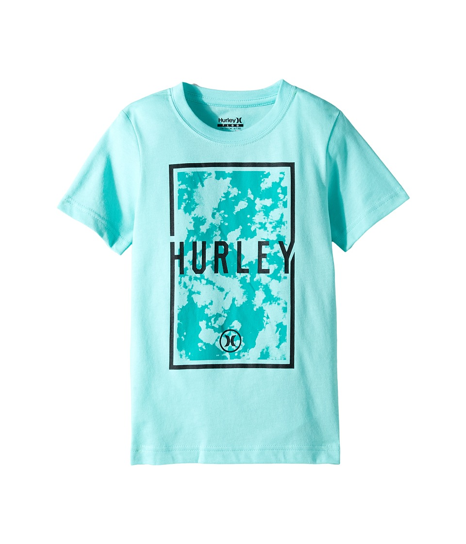 Hurley Kids Cloudy Tee (Little Kids) (Bleached Turquoise) Boy