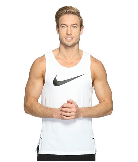 Nike Dry Elite Basketball Tank - White/White/White/Black