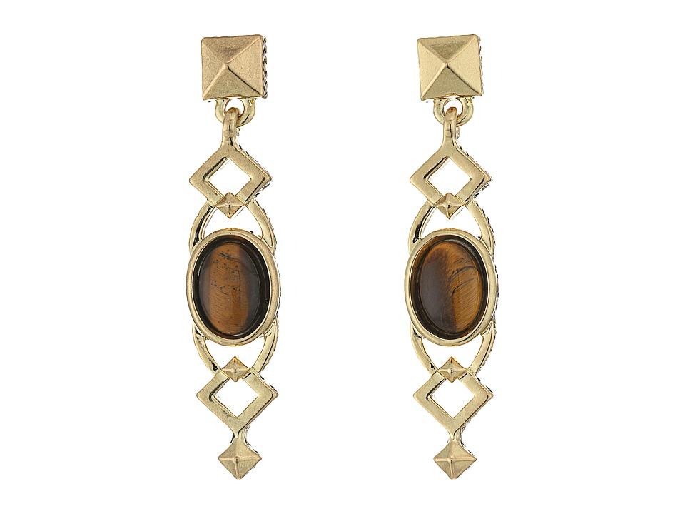 House of Harlow 1960 - Lady Grace Drop Earrings (Tiger's Eye) Earring