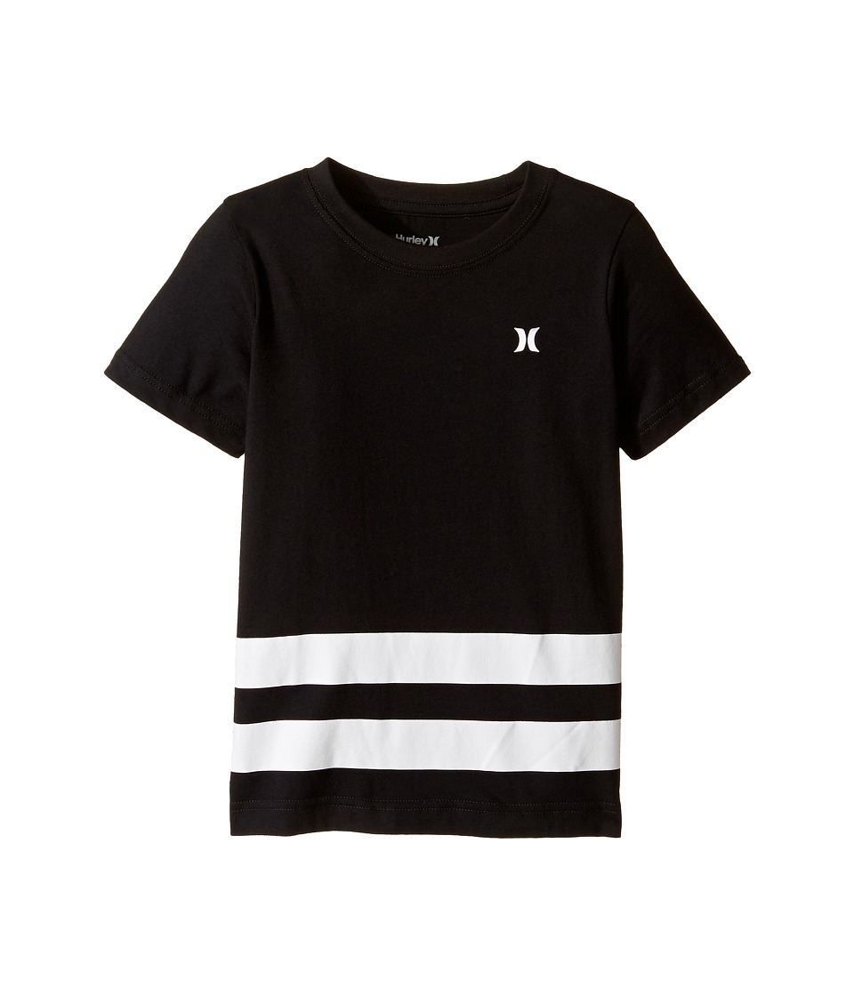 Hurley Kids Double Down Tee (Little Kids) (Black) Boy