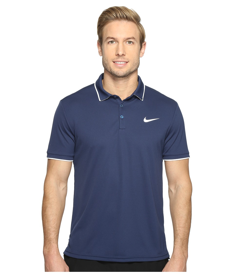 Nike Court Dry Tennis Polo (Midnight Navy/White/Midnight Navy/White) Men