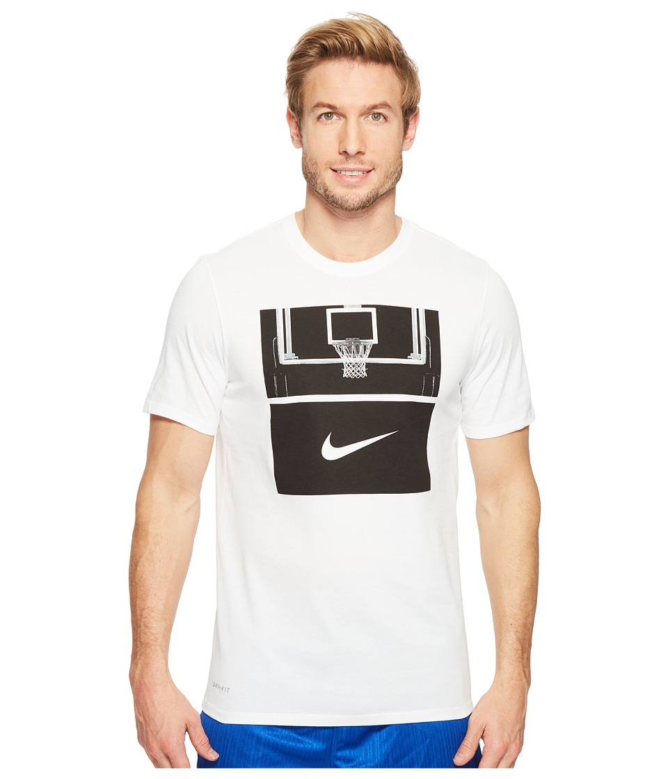 Nike Dry Basketball Hoop T-Shirt (White/White/Black) Men
