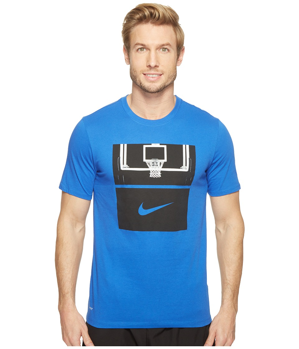 Nike Dry Basketball Hoop T-Shirt (Game Royal/Game Royal/Black) Men