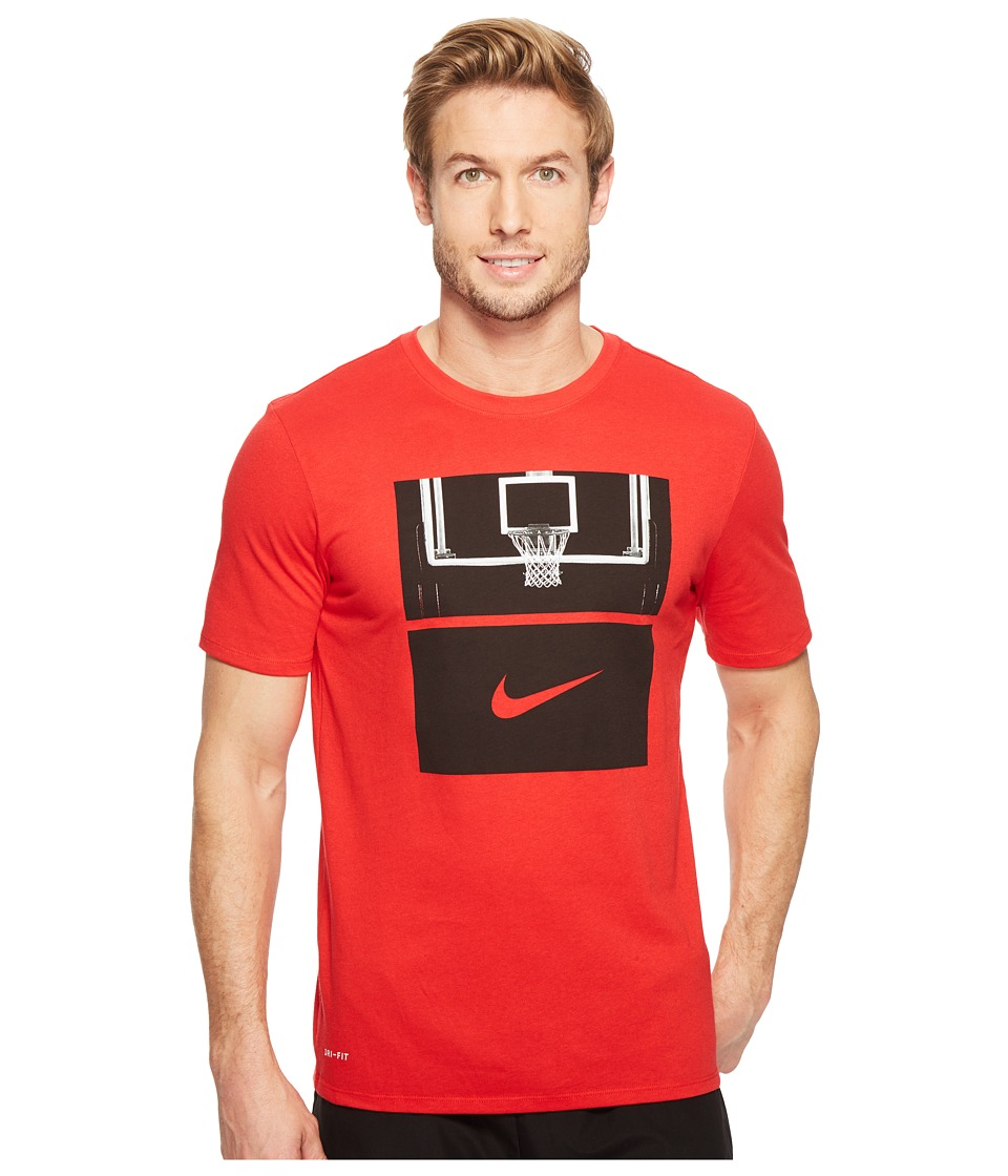 Nike Dry Basketball Hoop T-Shirt (University Red/University Red/Black) Men