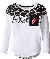 Nike Kids - Club Aop Long Sleeve Pocket Top (Toddler)