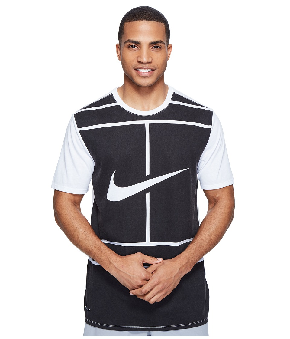 Nike Court Dry Tennis T-Shirt (White/Black) Men