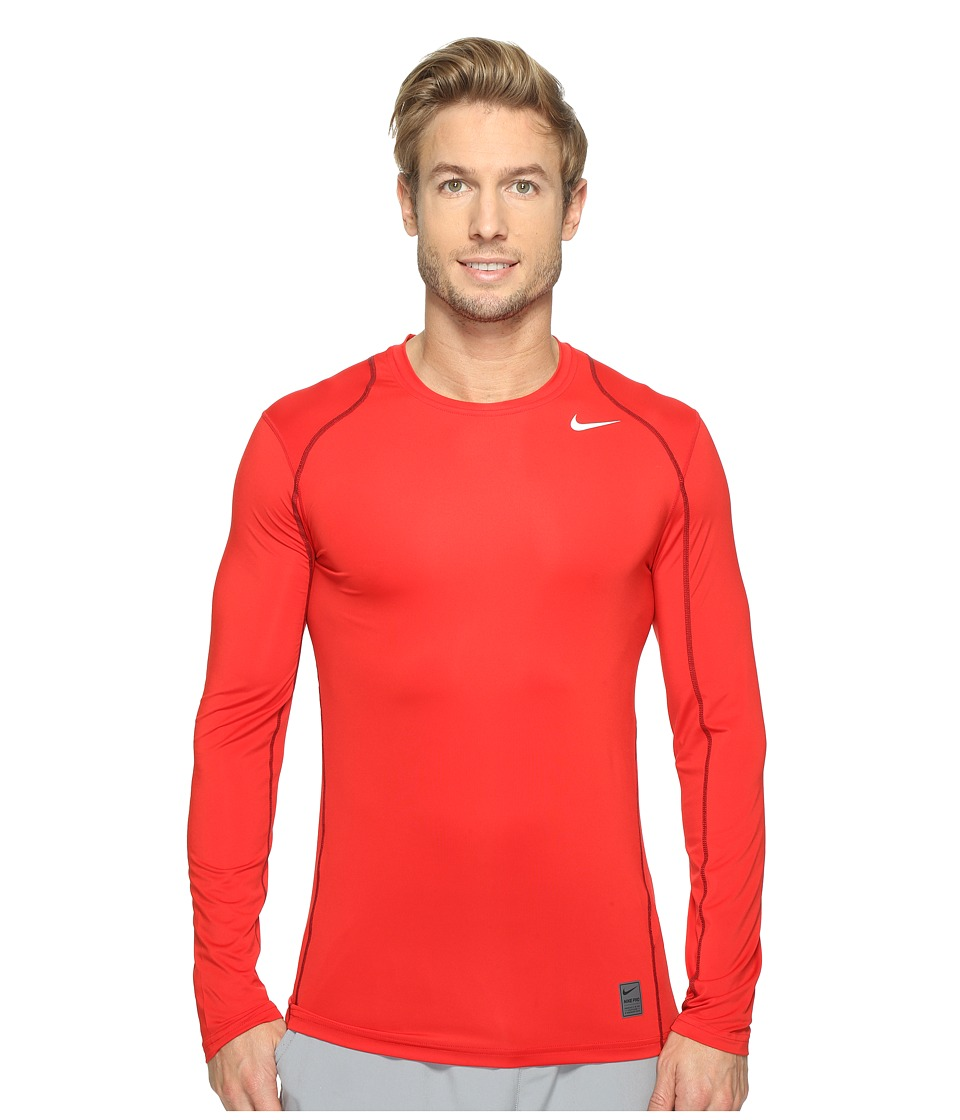 Nike Pro Cool Fitted L/S (University Red/Gym Red/White) Men