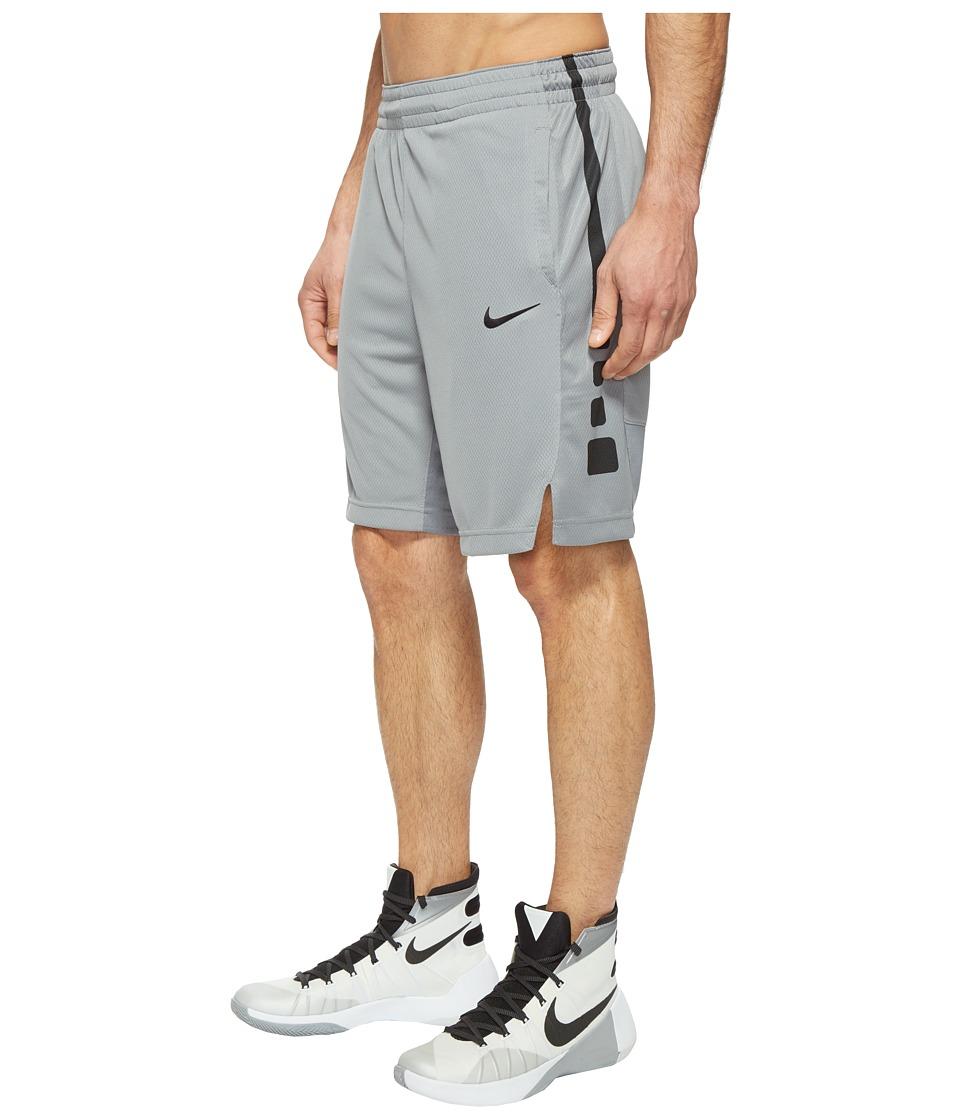 Nike Elite Stripe Basketball Short (Cool Grey/Cool Grey/Black/Black) Men