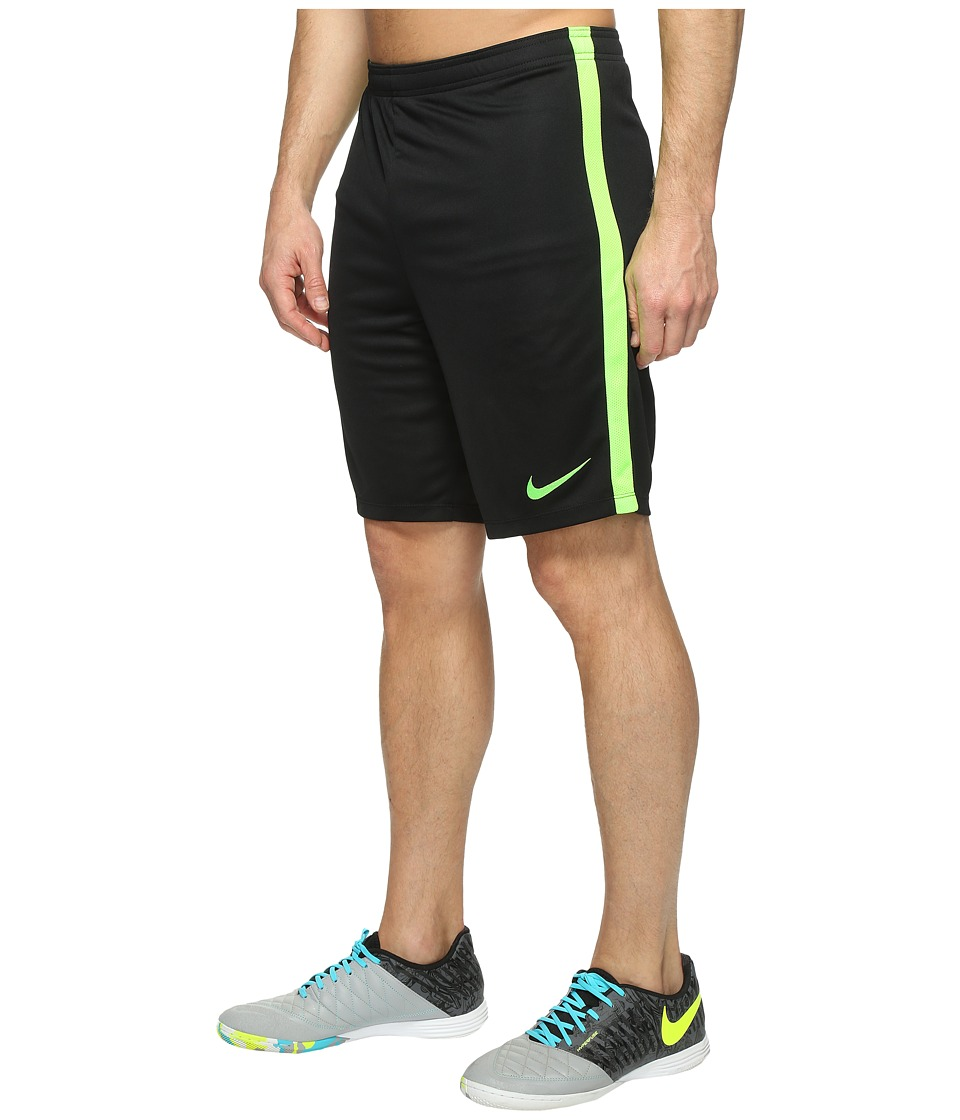 Nike Dry Academy Soccer Short (Black/Electric Green/Electric Green) Men