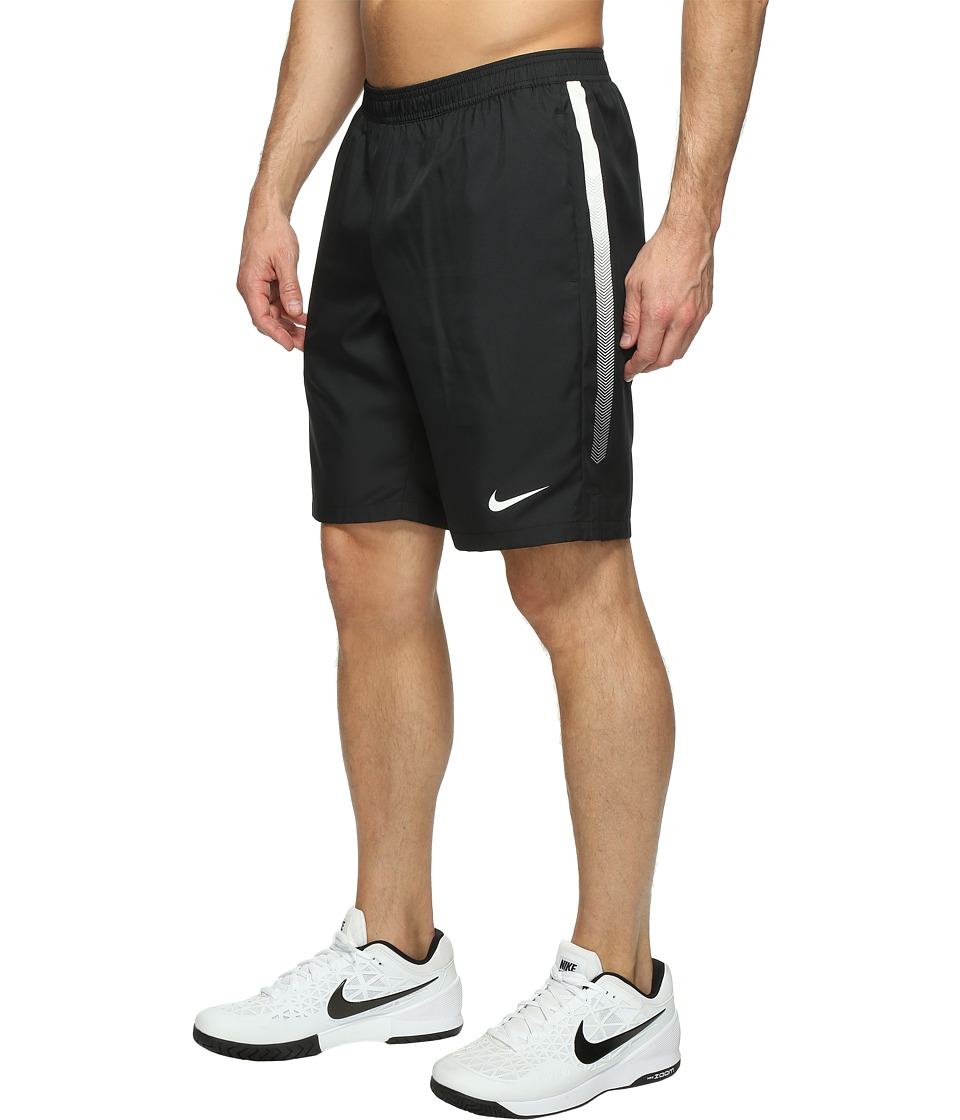 Nike Court Dry 9 Tennis Short (Black/White/White/White) Men