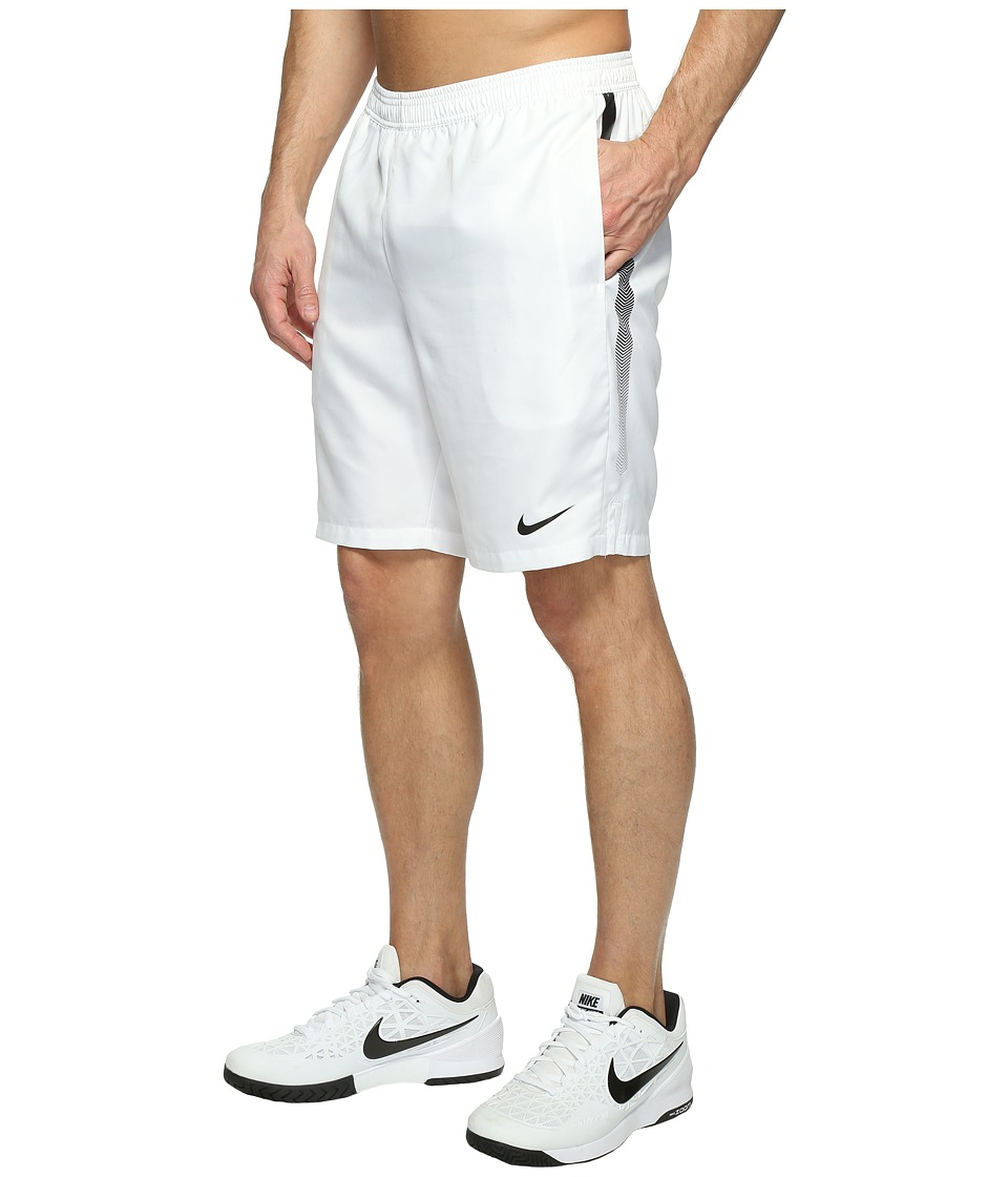 Nike Court Dry 9 Tennis Short (White/Black/Black) Men