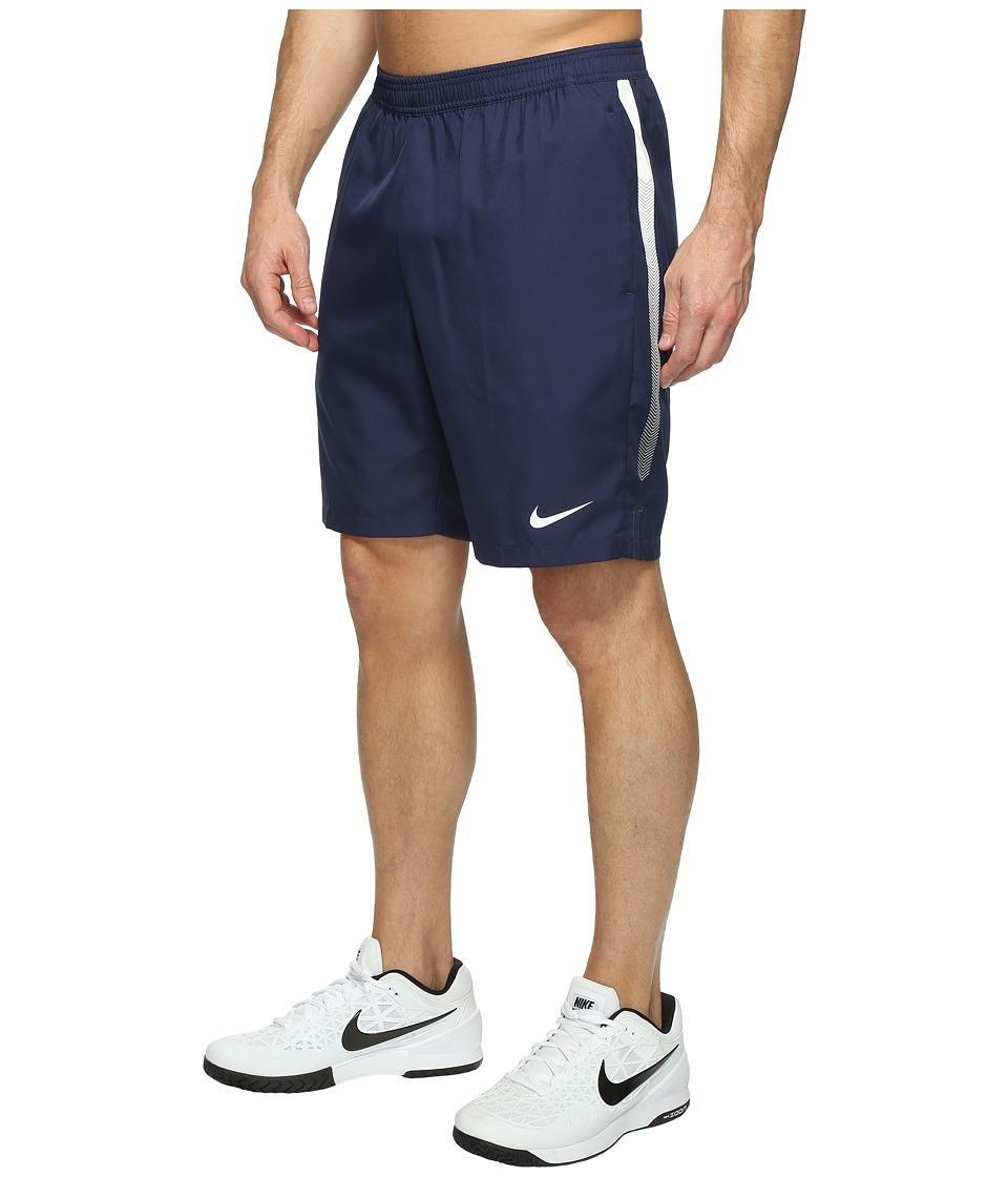 Nike Court Dry 9 Tennis Short (Midnight Navy/White/White) Men