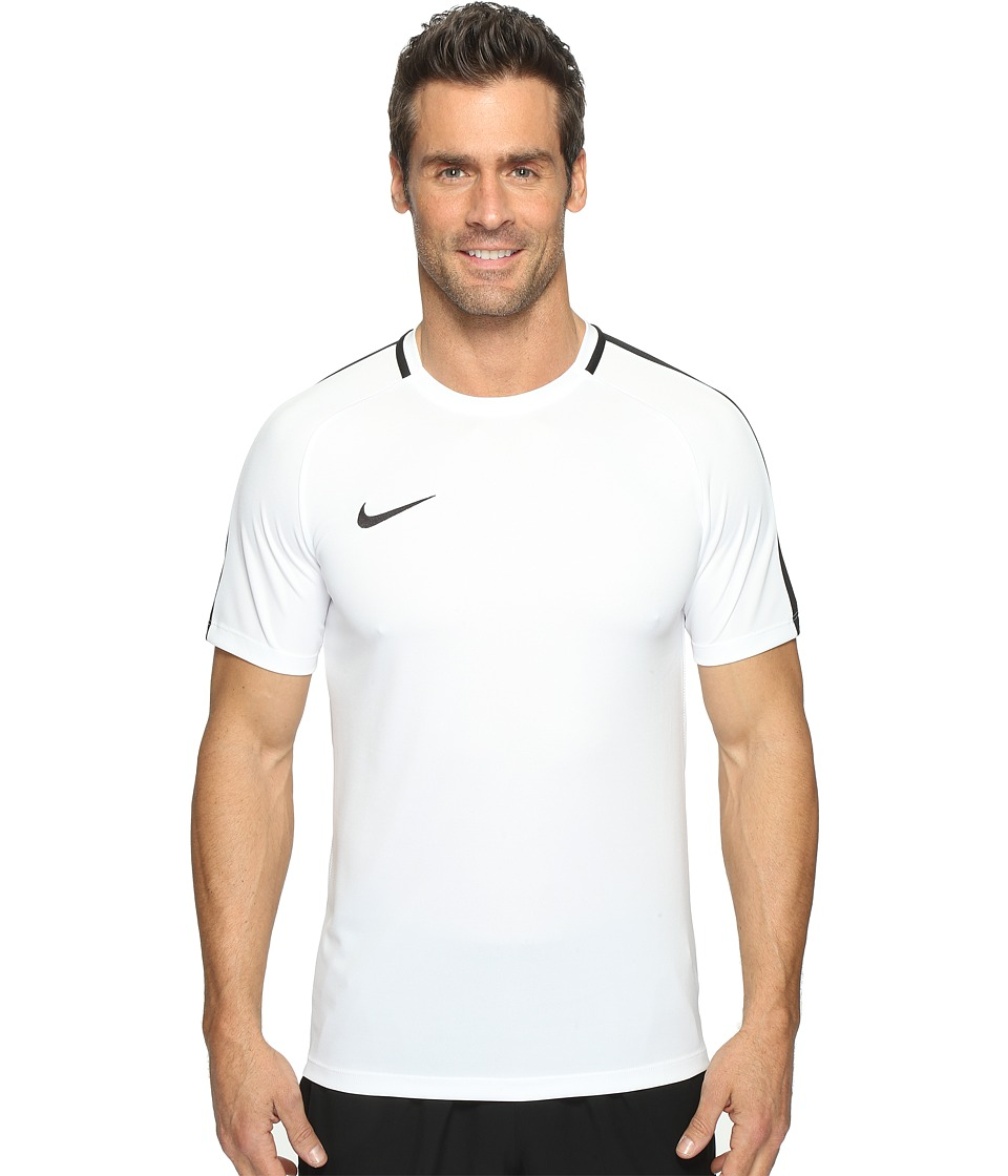 Nike Dry Academy Soccer Shirt (White/Black/Black) Men