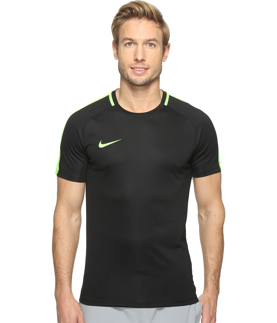Nike Dry Academy Soccer Shirt (Black/Electric Green/Electric Green) Men