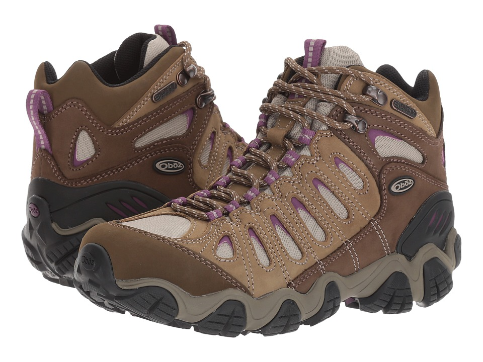 Oboz Sawtooth Mid BDry (Violet) Women's Shoes