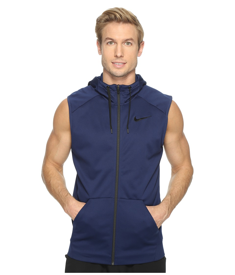 Nike Therma Hoodie Sleeveless Full Zip Swoosh (Binary Blue/Black) Men