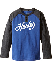 Hurley Kids - Thermal Raglan Henley (Little Kids)